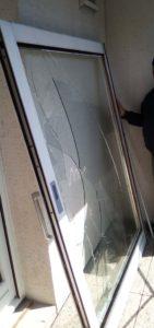 baie vitrée avant remplacement du vitrage