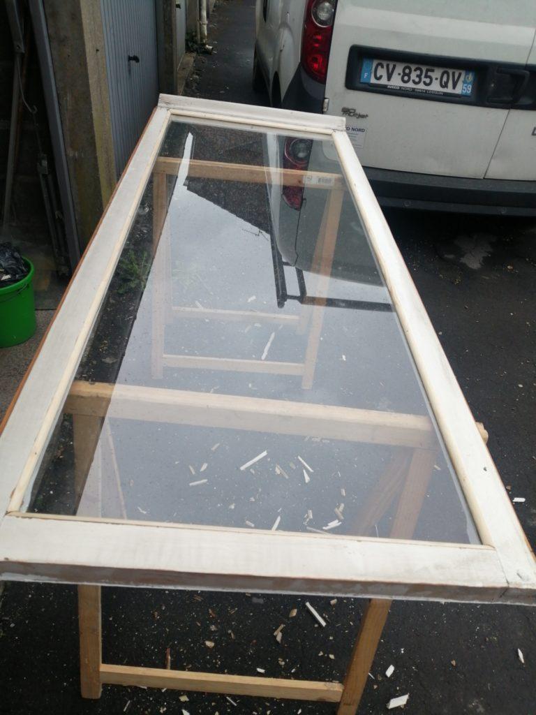 Intervention sur une vitre simple à démastiquer